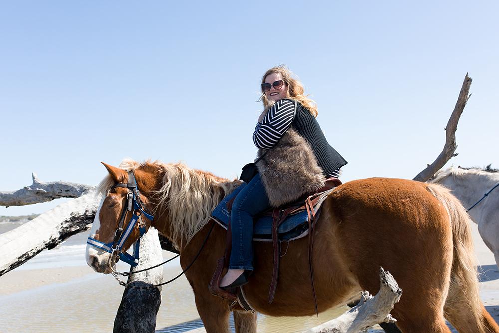 SamiM Adventures Horsing Around on Jekyll Island Three Oaks farm Golden Isles Horse Trail Beach Ride