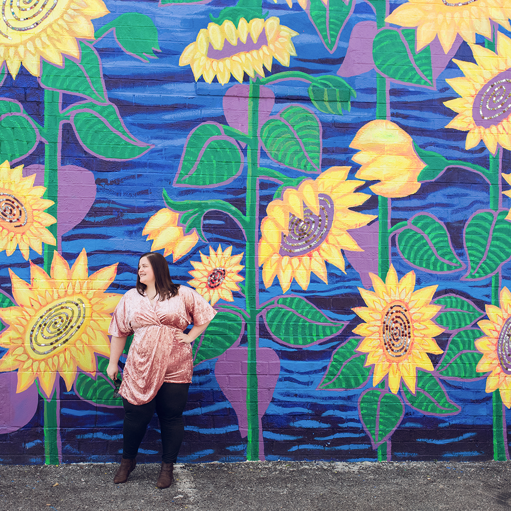 Cool spots for photos in Jacksonville | Murray Hill Sunflower Mural
